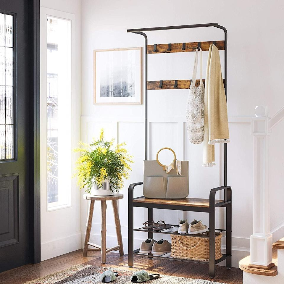 <p>The <span>Vasagle Daintree Coat Rack, Shoe Bench, Hall Tree With Storage Shelf For Entryway</span> ($70) is a must have for all your outdoor necessities. No more messy closets and misplaced accessories. </p>