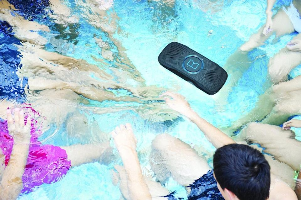 """<p>Yes, the <a href=""""https://www.popsugar.com/buy/SuperStar-BackFloat-Waterproof-Bluetooth-Speaker-330735?p_name=SuperStar%20BackFloat%20Waterproof%20Bluetooth%20Speaker&retailer=amazon.com&pid=330735&price=75&evar1=geek%3Aus&evar9=36026397&evar98=https%3A%2F%2Fwww.popsugar.com%2Ftech%2Fphoto-gallery%2F36026397%2Fimage%2F37533861%2FSuperStar-BackFloat-Waterproof-Bluetooth-Speaker&list1=gifts%2Choliday%2Cgift%20guide%2Cdigital%20life%2Cfathers%20day%2Choliday%20living%2Ctech%20gifts%2Cgifts%20for%20men&prop13=api&pdata=1"""" class=""""link rapid-noclick-resp"""" rel=""""nofollow noopener"""" target=""""_blank"""" data-ylk=""""slk:SuperStar BackFloat Waterproof Bluetooth Speaker"""">SuperStar BackFloat Waterproof Bluetooth Speaker</a> ($75) floats - perfect for when he's lounging in the pool. The incredible sound can be connected via Bluetooth, so he won't miss any calls while sitting back on vacation. Not planning to be by a pool anytime soon? It's also great for the shower or bath.</p>"""