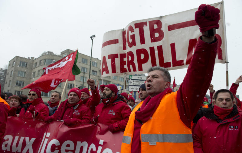 Workers protest to get EU leaders to end austerity