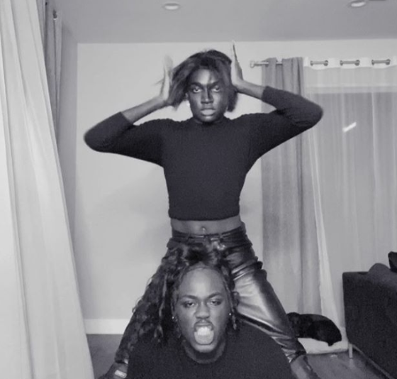 "<p>Recreating Michael Jackson and Janet Jackson's iconic ""Scream"" music video, Rickey Thompson and Denzel Dion are just getting started with their Halloween costumes. </p>"