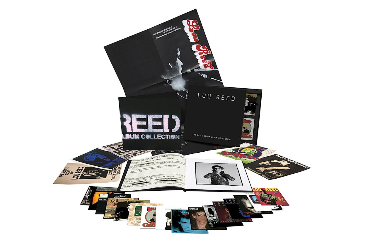 """<p>The last project Reed was overseeing in the lead-up to his death, or at least one of them, was this collection of all the studio albums he recorded from 1972 through '86, apparently creating a fond nostalgia for Reed that he hadn't always indulged in in life. Along with the 17 discs in this hefty, dressed-in-black box is an equally oversized 80-page book in which, naturally, many black-and-white dirty boulevards will be seen. If you're looking for a rarities collection, this isn't that — rumor has it that'll follow, eventually — but this is the one that can say """"Ich bin ein Berlin-er,"""" and that, along with all the undebated brilliance, finally affords you that copy of Metal Machine Music you never got around to picking up. </p>"""