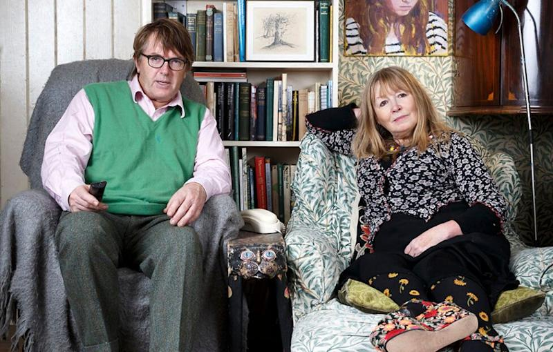 Mary with husband Giles on Gogglebox (Photo: Channel 4)