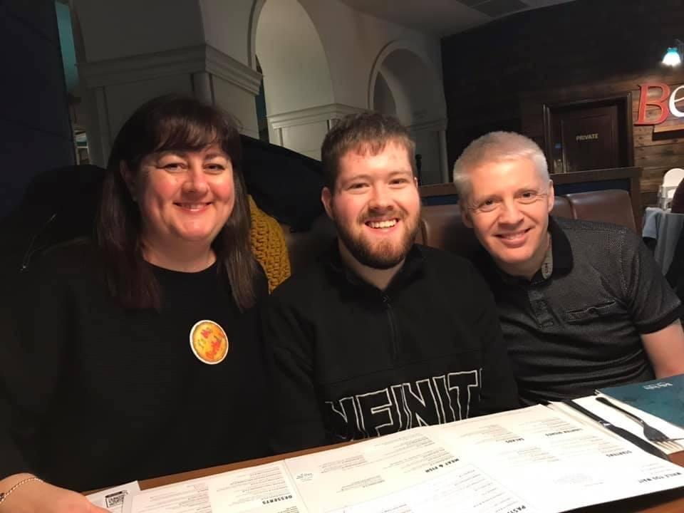 Christopher and his parents