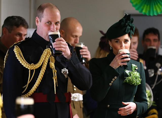 Not their first time - here they are sipping pints in West London in 2019. (Getty Images)