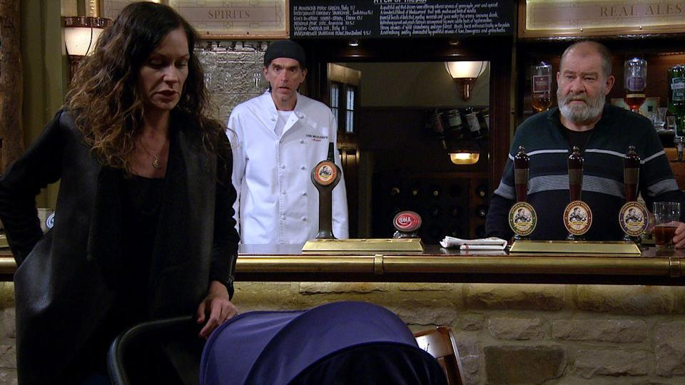 <p>When she finds out that Paddy is getting drunk with Mandy, she fears that she has pushed Paddy towards his ex.</p>