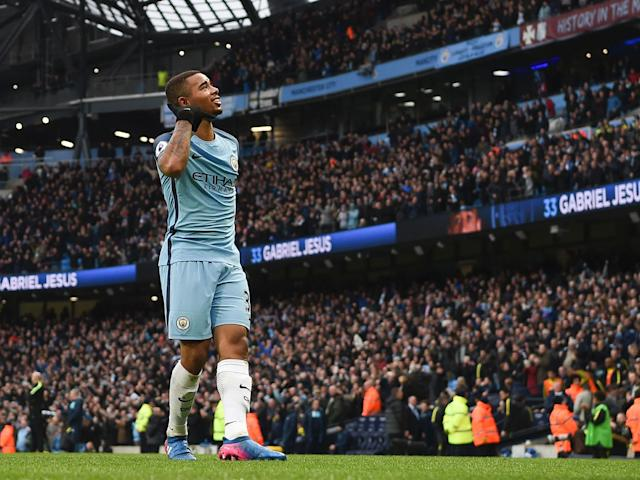 After recovering from a broken metatarsal within the space of 10 weeks, Gabriel Jesus could feature in the Manchester United derby: Getty