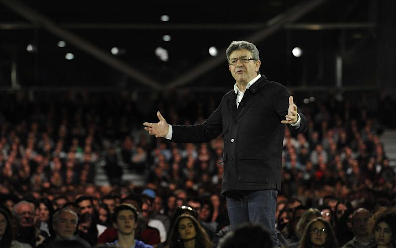 Jean-Luc Melenchon Jean-Luc Melenchon campaign meeting, Grand Palais, Lille, France - Credit: ALCALAY/SIPA/REX/Shutterstock