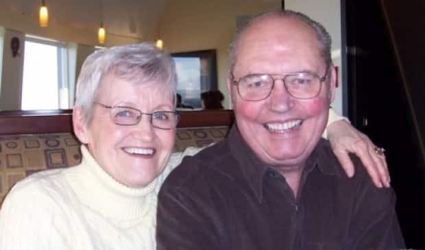Dot and Lorne Vaughan were married for 59 years. Lorne died during a COVID-19 outbreak at the McKenzie Towne Continuing Care Centre.  (Submitted by Nina Vaughan - image credit)