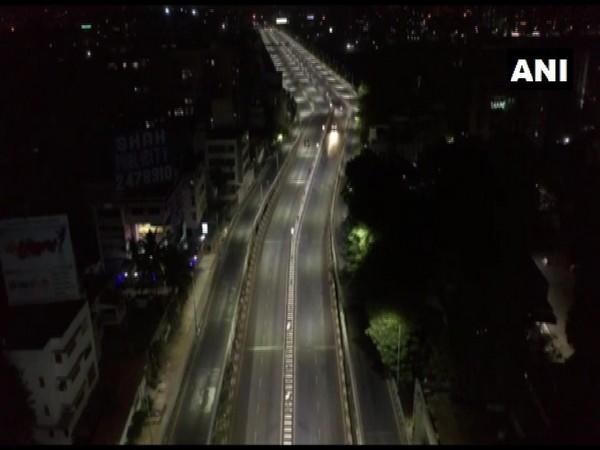 A visual of deserted street in Surat