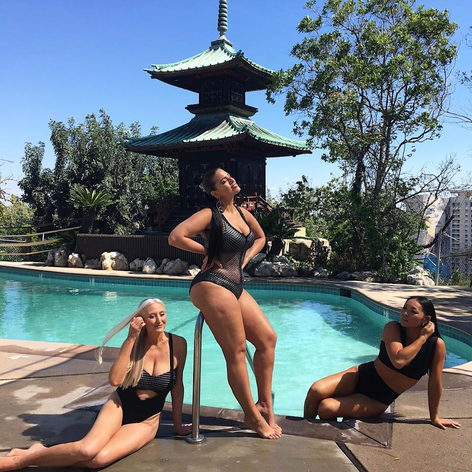 """<p>Fishnet swimsuit? Ashley Graham says it's in style and after glancing at this sexy 'gram, we must agree. (Shop a similar suit <a rel=""""nofollow"""" href=""""https://click.linksynergy.com/fs-bin/click?id=93xLBvPhAeE&subid=0&offerid=460292.1&type=10&tmpid=20904&RD_PARM1=http%3A%2F%2Fus.asos.com%2Fasos%2Fasos-neoprene-fishnet-insert-panel-plunge-halter-swimsuit%2Fprd%2F6164414%3F&u1=ISAshleyGrahamSuitFishnetIJMarch"""">here</a>.)</p>"""