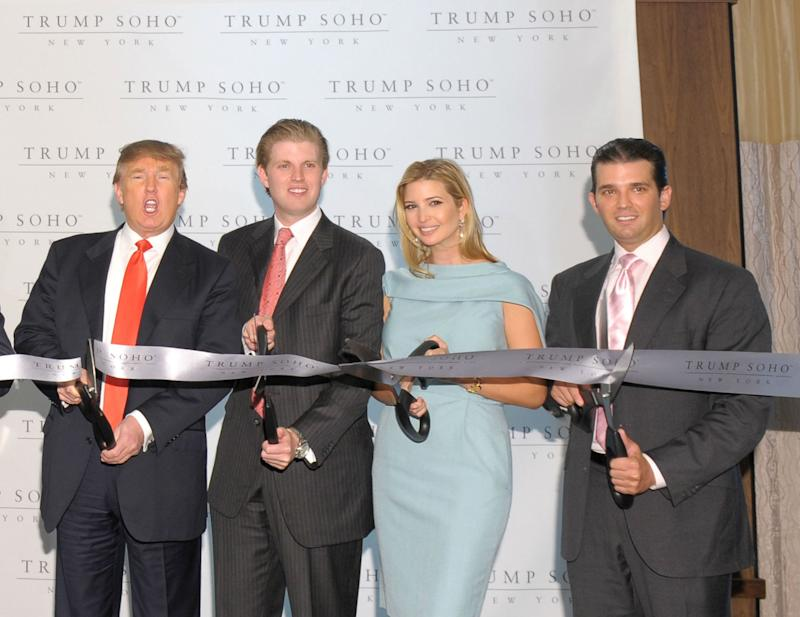 The Trump name has driven a restaurant in the Trump SoHo hotel out of business: (Getty Images)