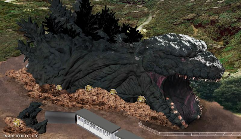 The anime theme park, Nijigen no Mori on Awaji Island, Hyogu Prefecture in Japan is opening a life-sized Godzilla attraction with a length of 120 metres in summer 2020. (Photo: Nijigen no Mori)