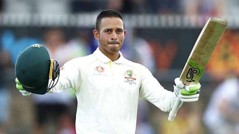 Pictured here, Usman Khawaja in action for Australia's Test cricket side.