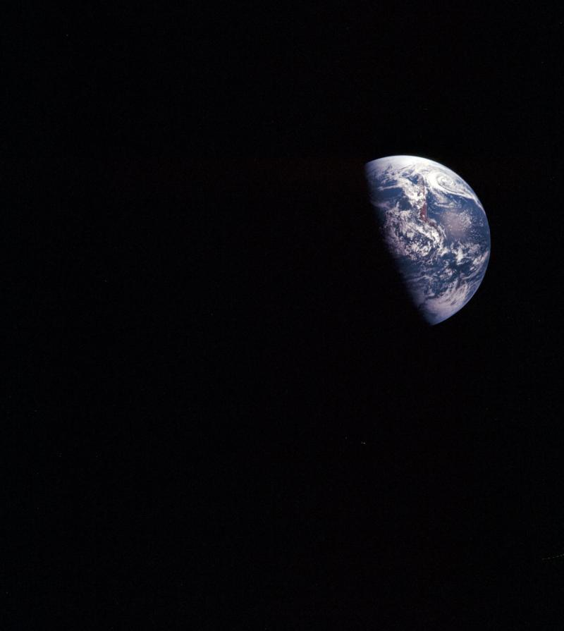 "FILE - This Dec. 1968 image taken during the Apollo VIII mission and released by NASA shows the planet Earth. If Earth overheats, can it be artificially cooled? Should the effort begin now? Who would decide? The very idea of ""geoengineering,"" and the unknown risks of tweaking our climate, left many participants in a March 2011 conference of international experts in Chicheley, England uneasy. (AP Photo/Courtesy of Earth Sciences and Image Analysis Laboratory, NASA Johnson Space Center)"