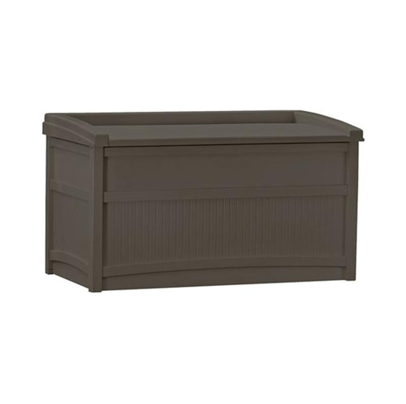 Suncast 50 Gallon Java Resin Storage Seat Deck Box. (Photo: Walmart)