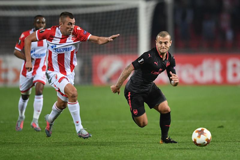 Star man: Wilshere impressed yet again as Arsenal extended their Europa League winning run: Arsenal FC via Getty Images