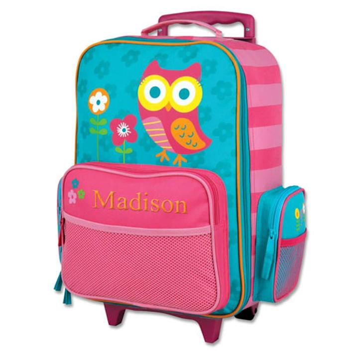 """Find this <a href=""""https://fave.co/2X1I38E"""" rel=""""nofollow noopener"""" target=""""_blank"""" data-ylk=""""slk:embroidered owl rolling luggage backpack"""" class=""""link rapid-noclick-resp"""">embroidered owl rolling luggage backpack</a> for $50 on <a href=""""https://fave.co/2X1I38E"""" rel=""""nofollow noopener"""" target=""""_blank"""" data-ylk=""""slk:Etsy"""" class=""""link rapid-noclick-resp"""">Etsy</a>."""