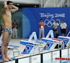 """<p>After falling short of beating Mark Spitz's record in 2004, Phelps was more determined than ever to do so at the Beijing 2008 Summer Olympics. Speedo even offered the swimmer a <a href=""""https://www.cnbc.com/id/26047381"""" rel=""""nofollow noopener"""" target=""""_blank"""" data-ylk=""""slk:$1 million prize"""" class=""""link rapid-noclick-resp"""">$1 million prize</a> if he could tie or beat the 1972 record. </p>"""