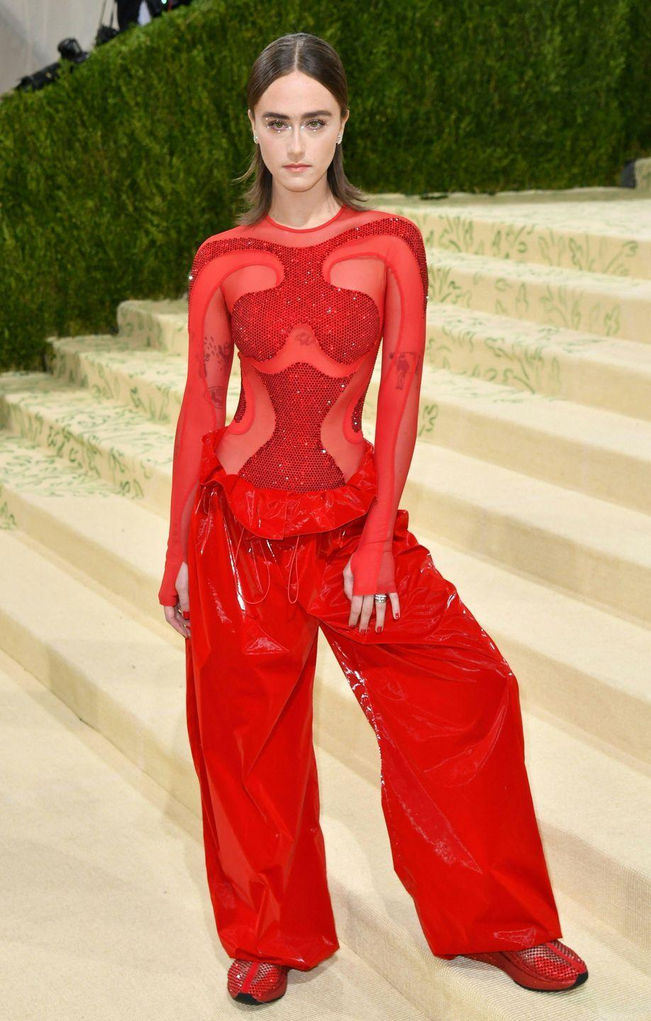 <p>The stylish stepdaughter of Vice-President Kamala Harris stepped onto the carpet in a Stella McCartney crystal and mesh bodysuit with matching pants and sneakers, somehow managing to look like a space princess, an Olympic athlete, and a superhero all at the same time. </p>