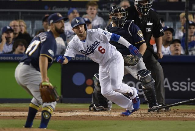 "Brian Dozier entered free agency for the first time in his career fresh off a trip to the World Series with the <a class=""link rapid-noclick-resp"" href=""/mlb/teams/la-dodgers/"" data-ylk=""slk:Los Angeles Dodgers"">Los Angeles Dodgers</a>. (AP Photo)"