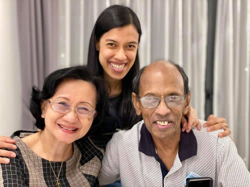 Nicol with her parents Ann Marie and Desmond David