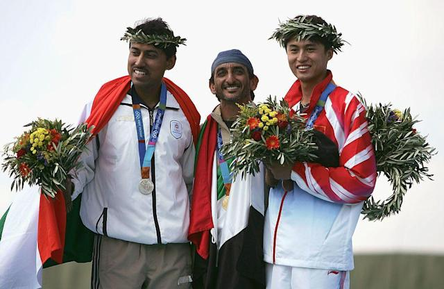 <p>Rajyavardhan Rathore won the silver for men's double trap event at the Marko Poulo Olympic Shooting Center. </p>