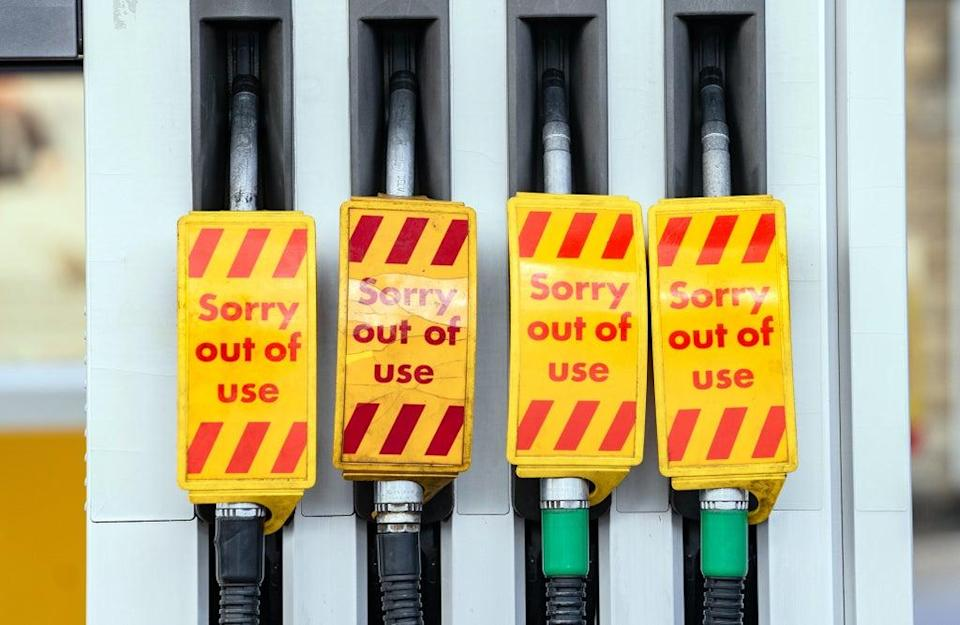 Some fuel stations have completely run dry amid panic-buying by drivers (PA) (PA Wire)