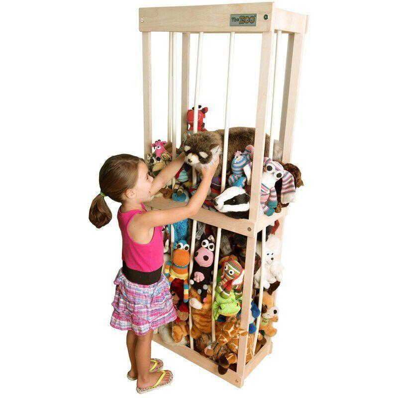 """<p><strong>Little Zookeepers</strong></p><p>wayfair.com</p><p><strong>$169.90</strong></p><p><a href=""""https://go.redirectingat.com?id=74968X1596630&url=https%3A%2F%2Fwww.wayfair.com%2Fdecor-pillows%2Fpdp%2Flittlezookeepers-zoo-toy-organizer-zook1000.html&sref=https%3A%2F%2Fwww.goodhousekeeping.com%2Fhome%2Forganizing%2Fg35936323%2Fstuffed-animal-storage-ideas%2F"""" rel=""""nofollow noopener"""" target=""""_blank"""" data-ylk=""""slk:Shop Now"""" class=""""link rapid-noclick-resp"""">Shop Now</a></p><p>If you're trying to keep a large collection in a small space, this """"zoo"""" storage lets kids pile the stuffed animals in a 22.5'' x 11.5'' footprint. Flexible """"bars"""" allow the animals to stay accessible to little hands, even if they're all the way at the bottom.</p>"""