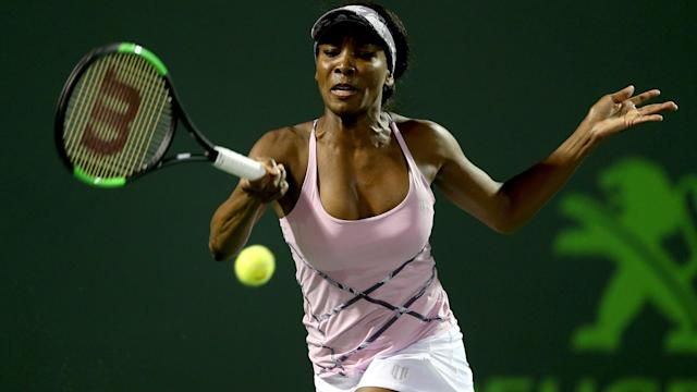 After Johanna Konta booked her spot in the Miami Open semi-finals, Venus Williams joined her.