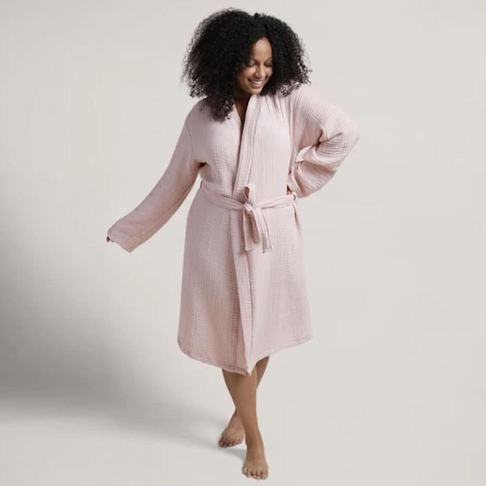 "This list would be incomplete without Parachute's signature spa-like robe. It has an oversized fit, and the soft cotton material delivers a lightweight coziness that you can wear all day. $99, Parachute. <a href=""https://www.parachutehome.com/products/robe-cloud-cotton?"" rel=""nofollow noopener"" target=""_blank"" data-ylk=""slk:Get it now!"" class=""link rapid-noclick-resp"">Get it now!</a>"