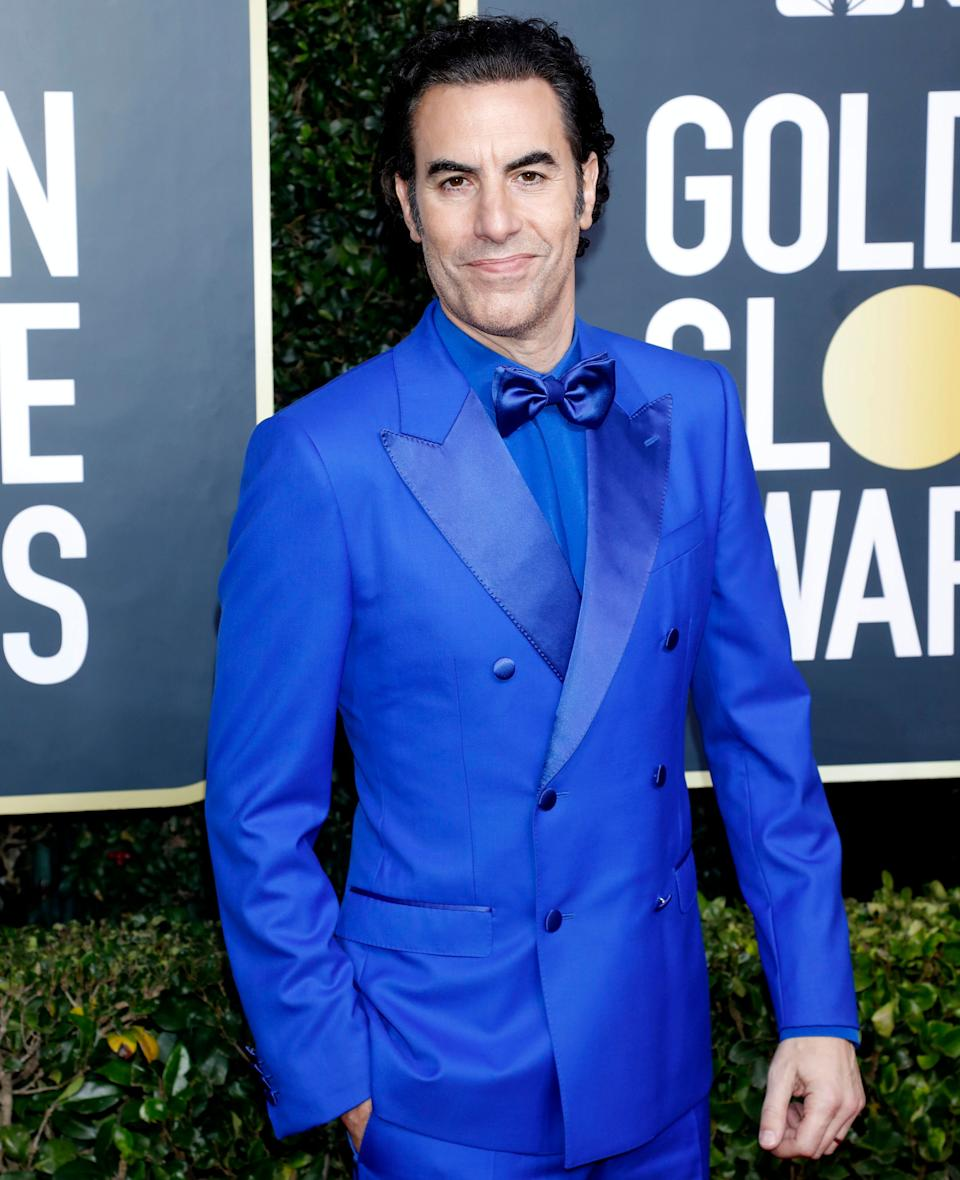 Sacha Baron Cohen photographed on the red carpet of the 77th Annual Golden Globe Awards in January 2020 (Photo: Barcroft Media via Getty Images)