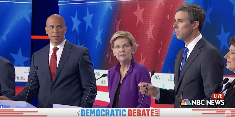 Cory Booker's reaction at Dem debate going viral