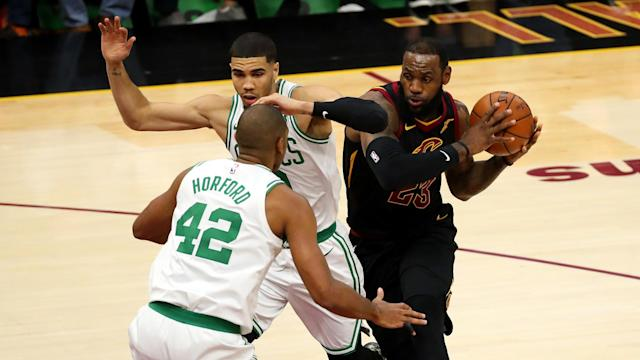 LeBron James played all but one minute in the first three quarters and led the Cavaliers to victory.
