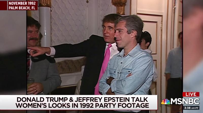 Donald Trump and Jeffrey Epstein (Screenshot: MSNBC/YouTube)