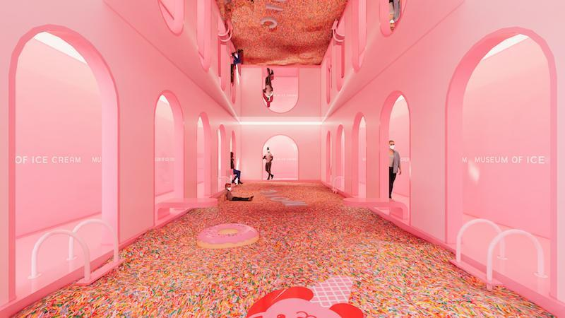Artist Rendering Of The Sprinkle Pool At The Upcoming Museum Of Ice Cream Singapore