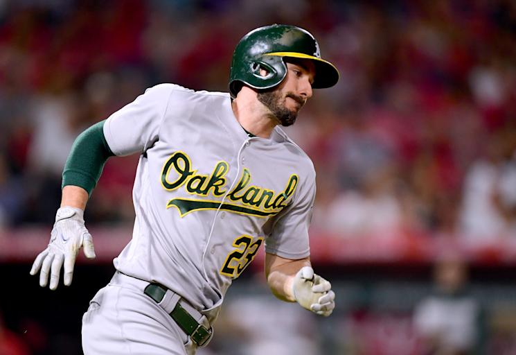 Matt Joyce could face punishment after allegedly using a gay slur during a run-in with a fan during Friday's game against the Los Angeles Angels. (AP)