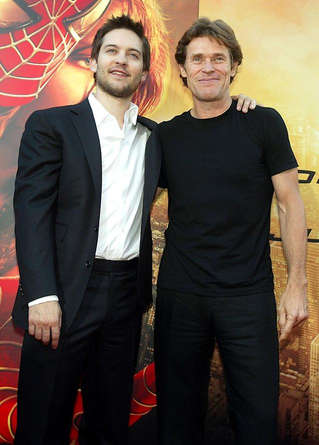 <p>Maguire and Dafoe reprised their on-screen rivalry in <em>Spider-Man 2</em>. (Photo: Kevin Winter/Getty Images) </p>