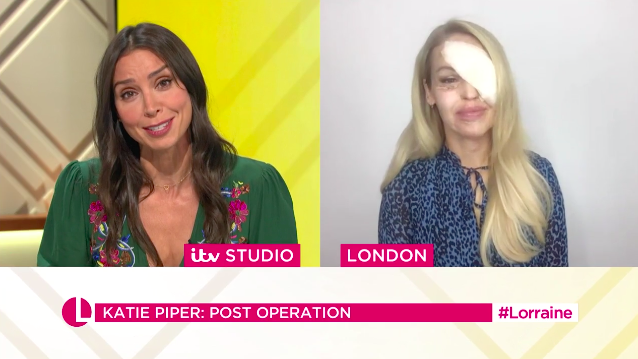 Katie Piper discusses relief of eye surgery on Lorraine. (ITV)