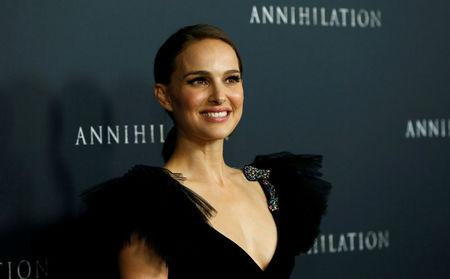 """FILE PHOTO: Cast member Portman poses at the premiere for """"Annihilation"""" in Los Angeles"""