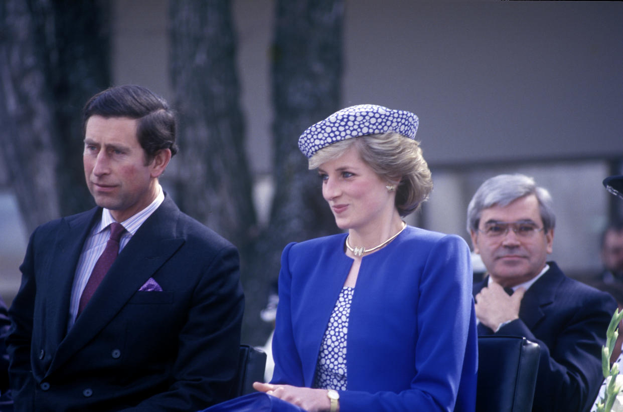 Diana wore the same earrings on a trip to Canada. Photo: Getty