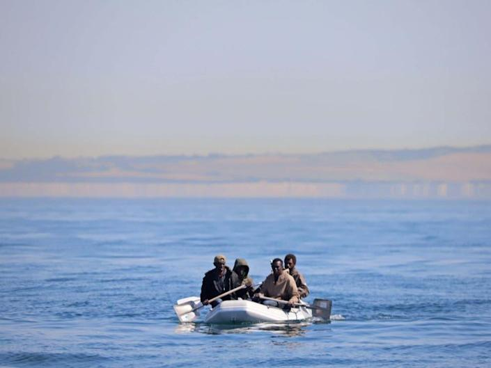 <p>In response to a rise in asylum seekers crossing the Channelby small boat last year, home secretaryPriti Patel branded the journeys 'totally unacceptable' and 'illegal'</p> (Getty)