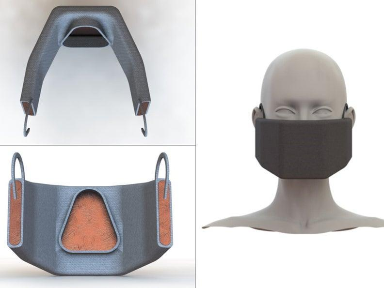 The team of researchers hope to develop masks that incorporate a heated copper mesh (MIT )