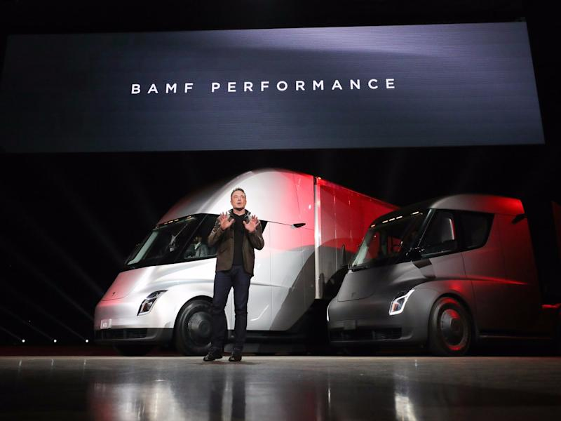 tesla trucks semi
