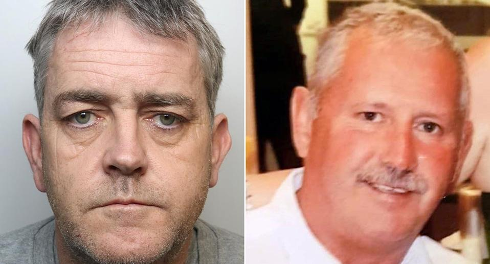 Andrew Jones (left) murdered Michael O'Leary (right) after luring him to a remote farm. (PA)