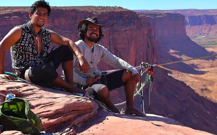 Daniel and Moises Monterrubio had been planning on setting the record for the longest highline at Yosemite National Park for over a year - Daniel Monterrubio