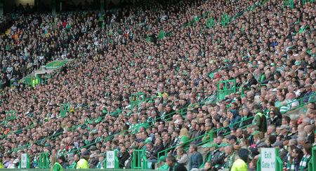 Celtic fans are seen in Celtic Park during the last match of the season against Heart of Midlothian, Glasgow, Scotland, Britain, May 21, 2017. Picture taken May 21, 2017  REUTERS/Paul Hackett