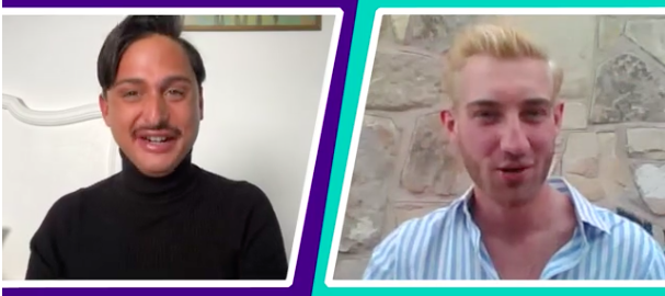 In the first episode of Yahoo UK's 'Dating at a Distance', Alex gets to know Rob (Yahoo UK)