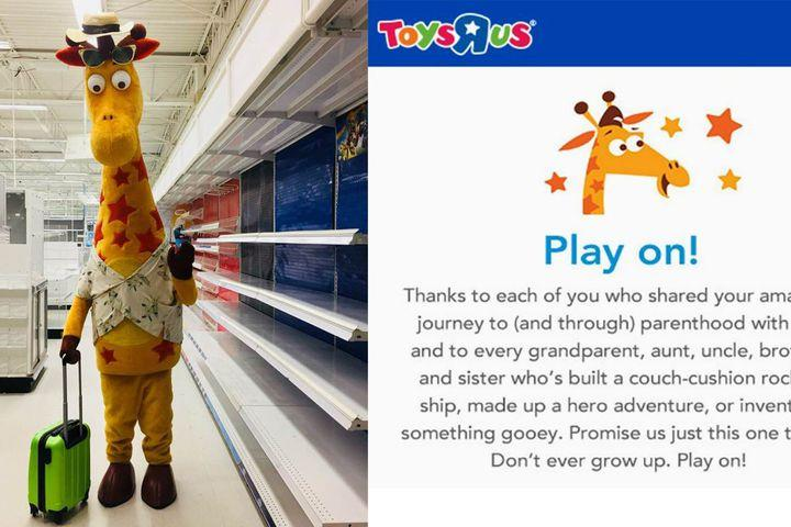 This Viral Photo Of Geoffrey The Giraffe S Last Day At Toys R Us
