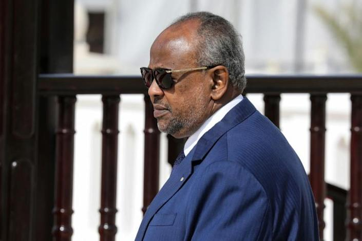 Djibouti President Ismail Omar Guelleh is facing a wave of protests over the arrest of a soldier who denounced corruption (AFP Photo/Ludovic MARIN)