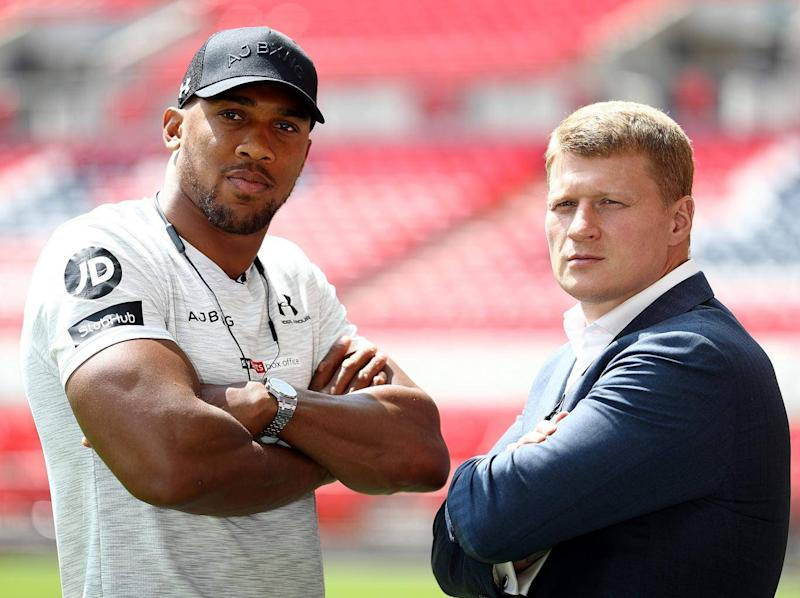 Joshua and Povetkin fight on 22 September (Getty)